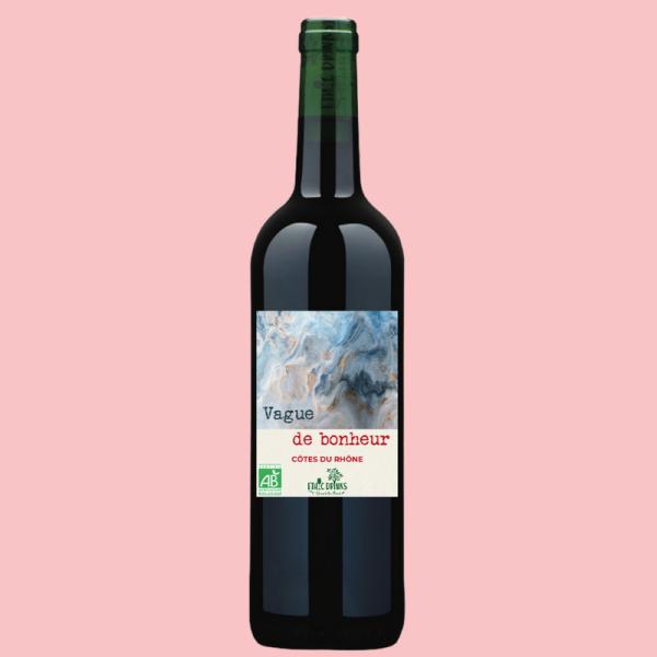 Côtes du Rhône Rouge Bio - Vague de Bonheur